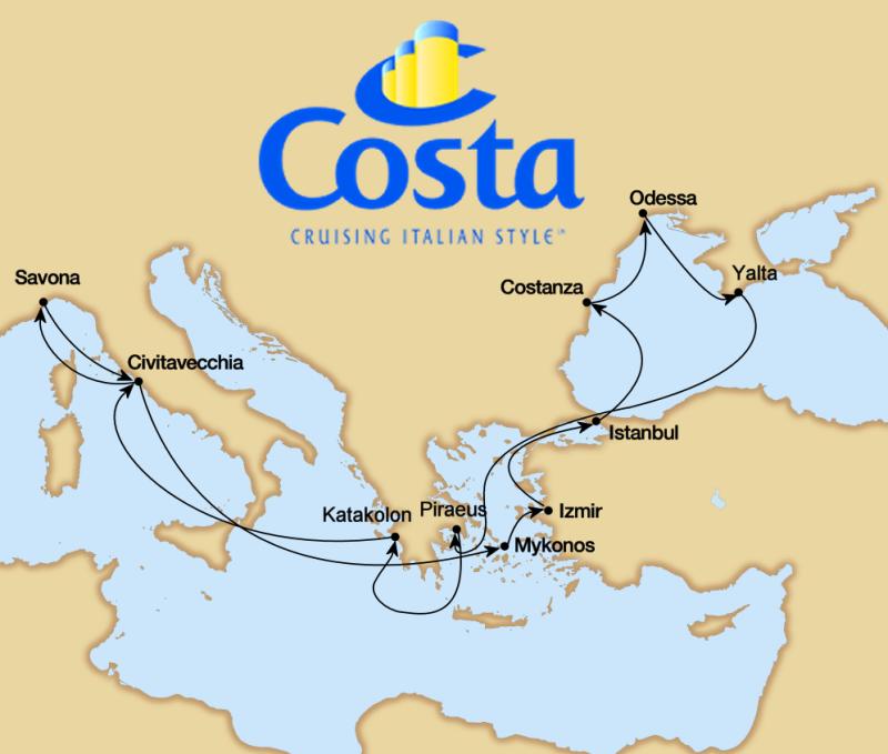 Wansbrough39s Cruise Blog  Announcing Costa Atlantica 19 Sept  2 Oct 2011