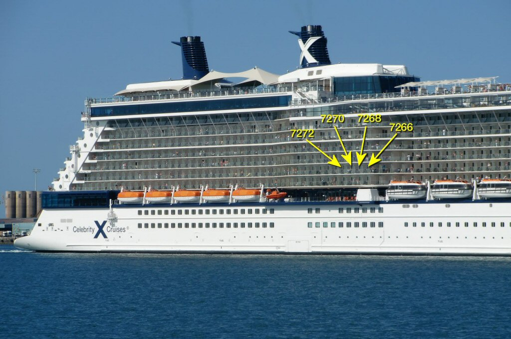 what cruise lines offer celebrity eclipse deck plans