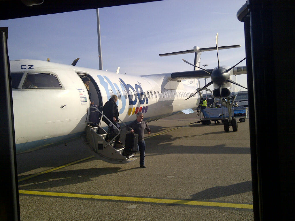 Flybe Bombadier at Schiphol