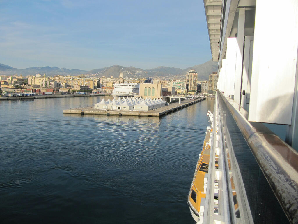 Our arrival at the port of Palermo