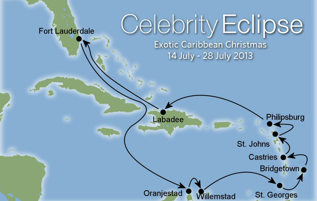Celebrity Eclipse Revised Itinerary 2013