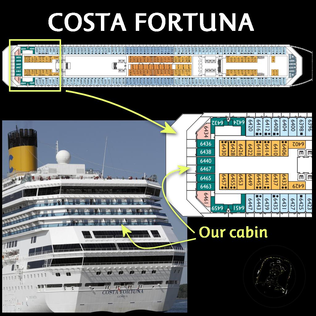 Costa Fortuna Cabin 6467