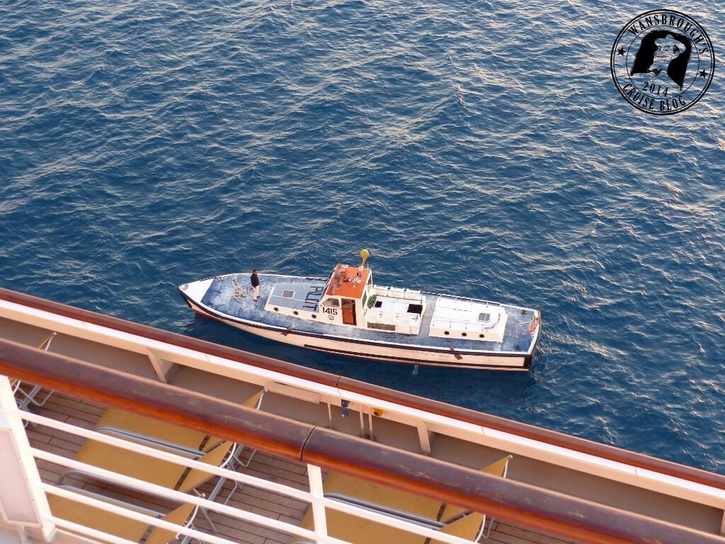 A Suez Canal Pilot Boat alongside the Costa Fortuna