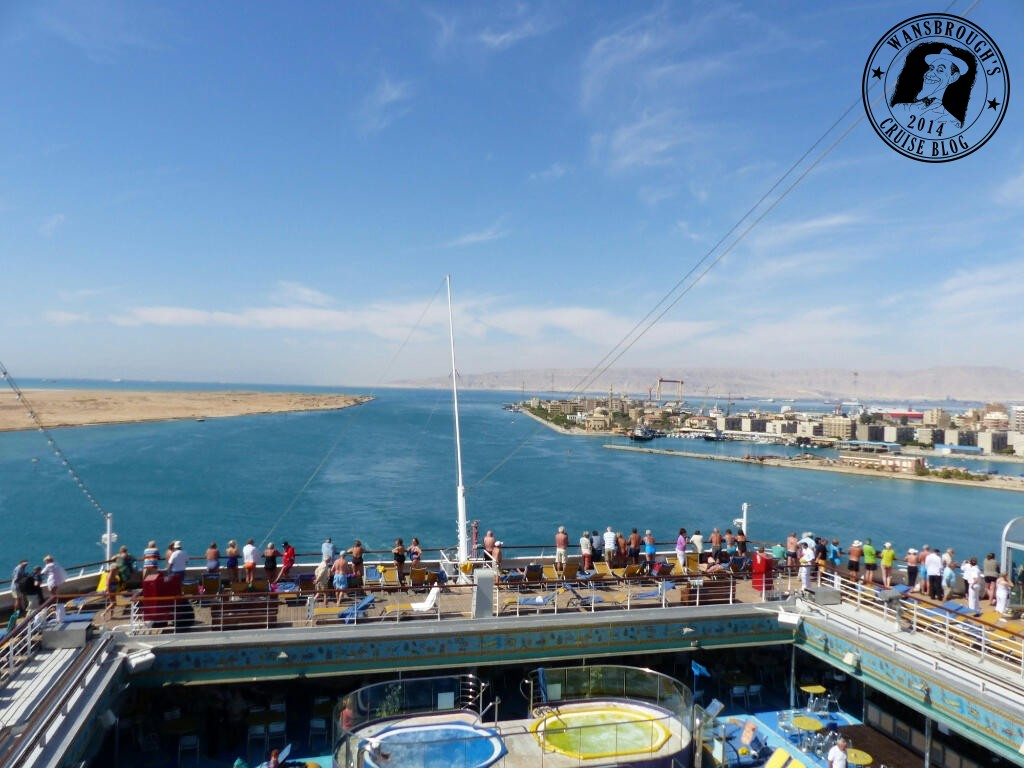 Costa Fortuna in the Suez Canal at the Red Sea end