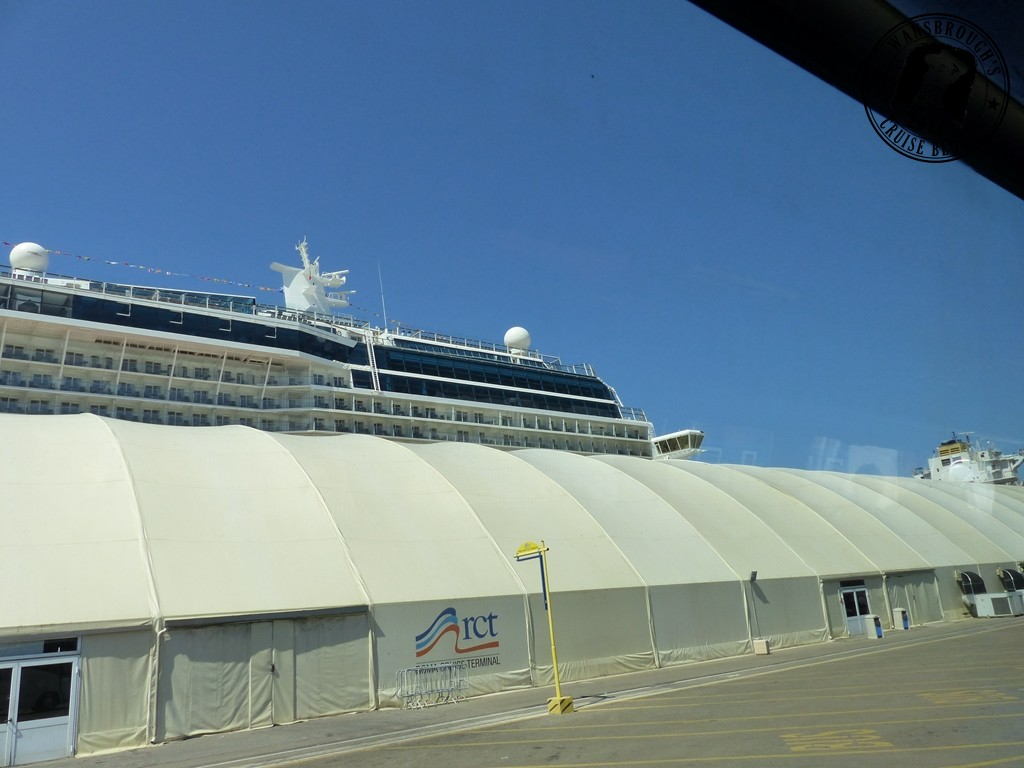 wansbrough s cruise blog 2014 celebrity reflection eastern the big tent used for embarkation