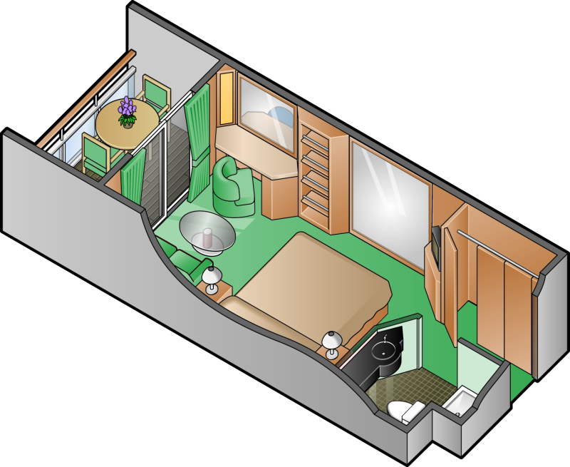 Celebrity Constellation Concierge Class Cabin Arrangement