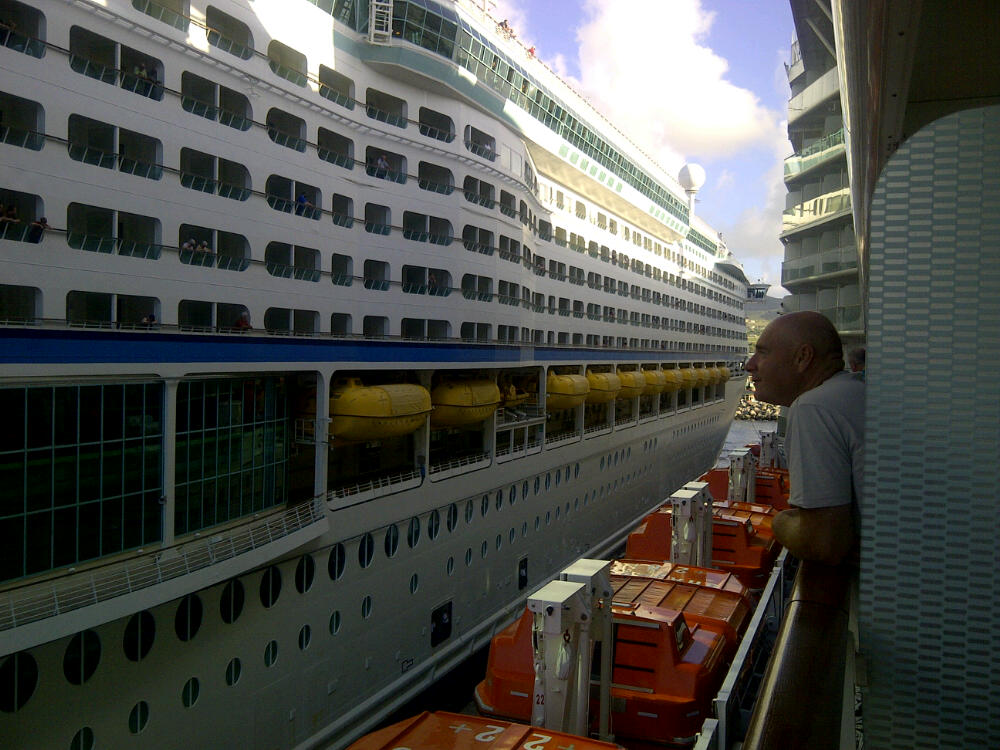 Adventure of the Seas arriving at St.Kitts