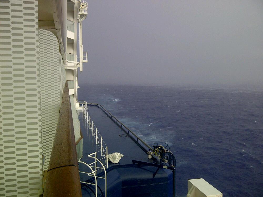 Rain at sea