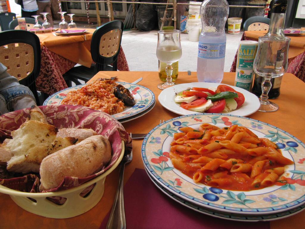 Lunch at the Ristorante La Gobbetta