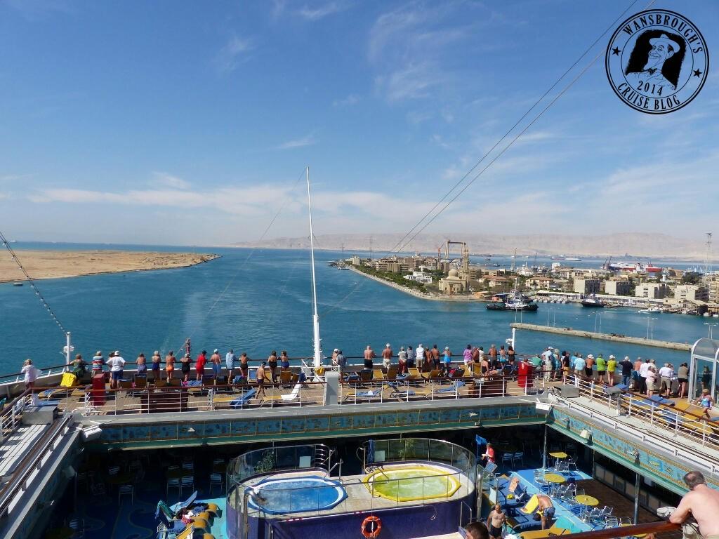 Costa Fortuna in the Suez Canal Red Sea end