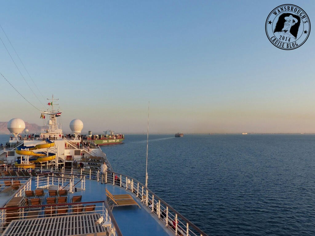 The early ones set off with the MSC Lirica leading the way