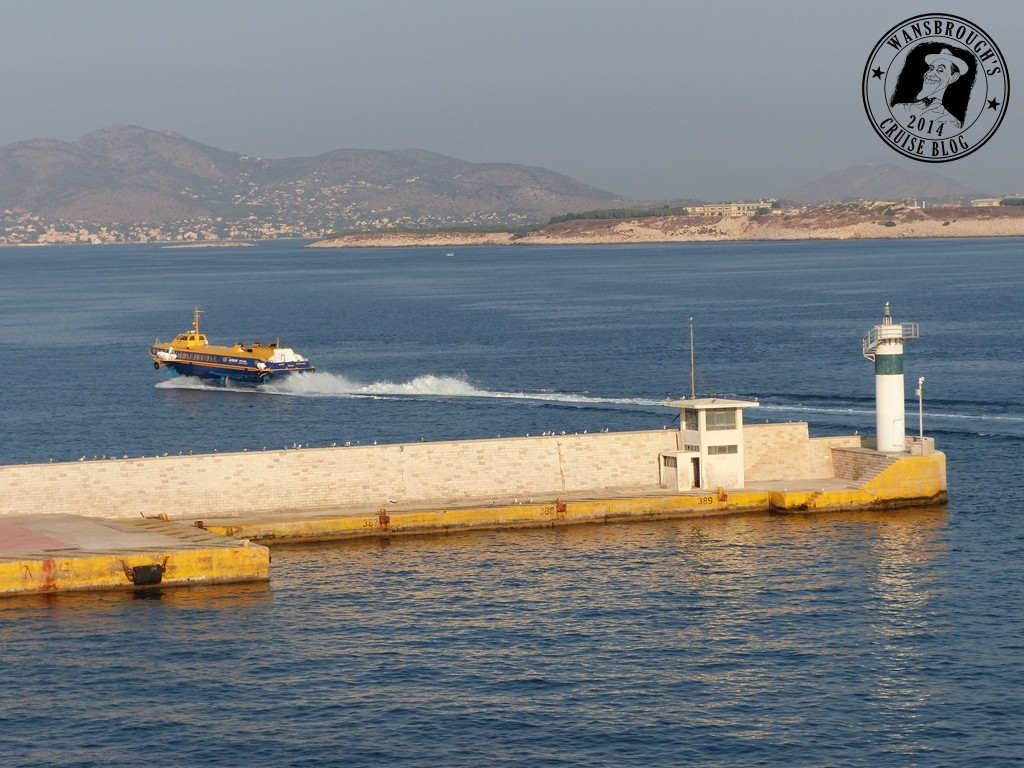 A Hydrofoil leaves Piraeus Port